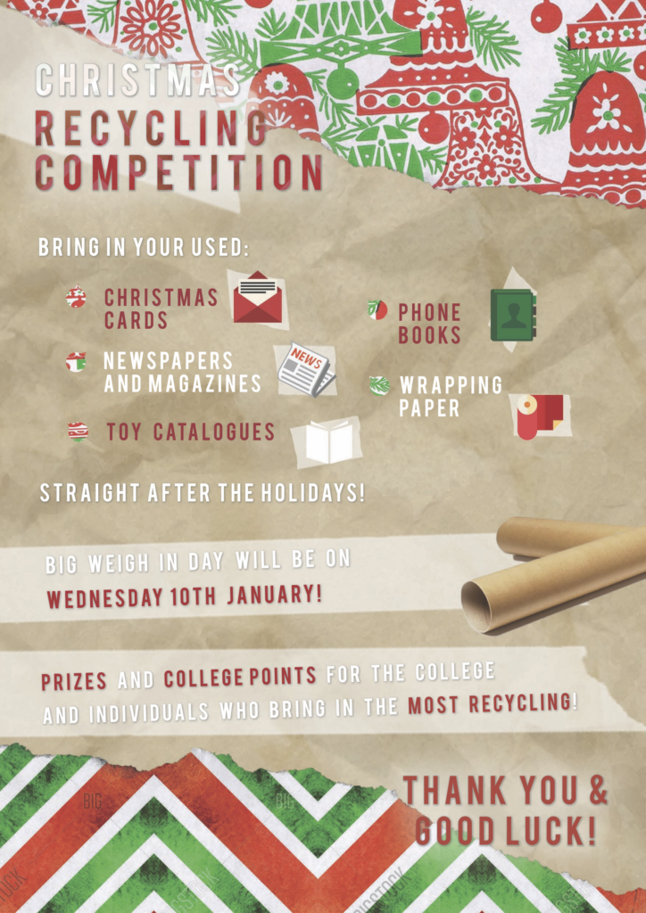 Christmas Recycling Competition – Tudor Grange Academy Redditch