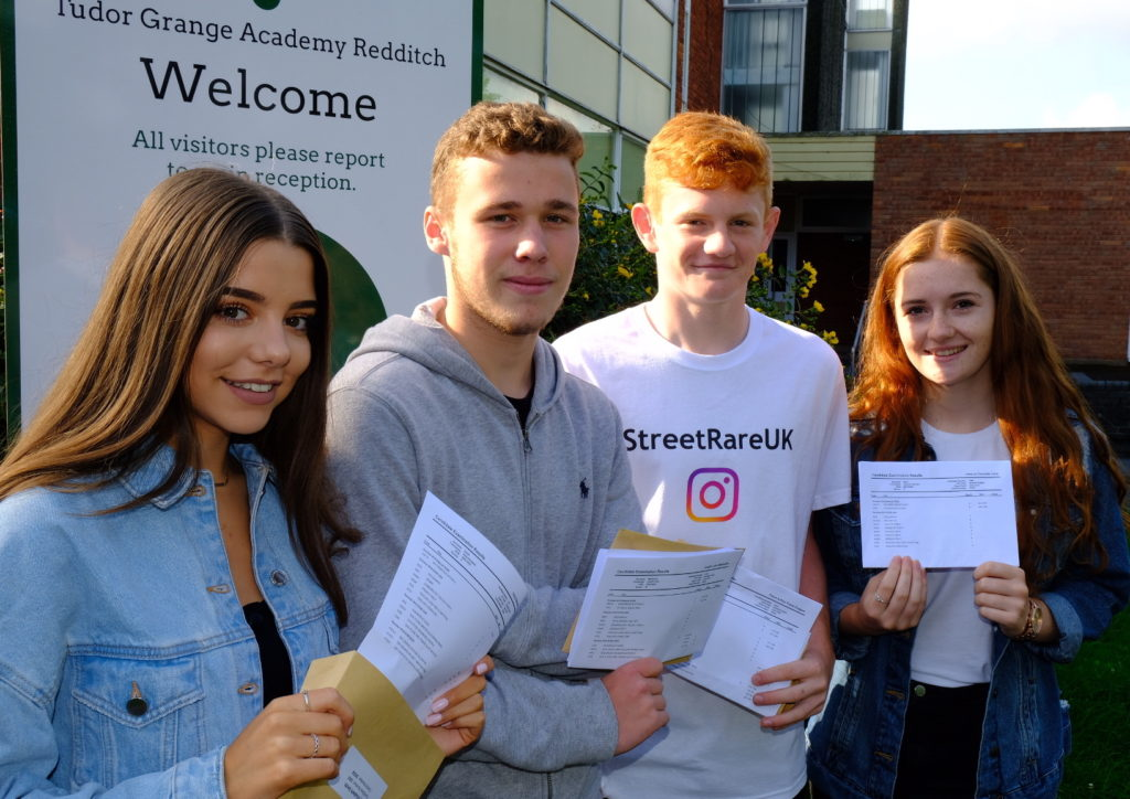 Holly, Joe, Flynn & Jess celebrating a fabulous set of GCSE results